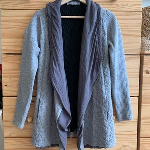 Lola & Sophie Grey Quilted Open Cardigan Jacket
